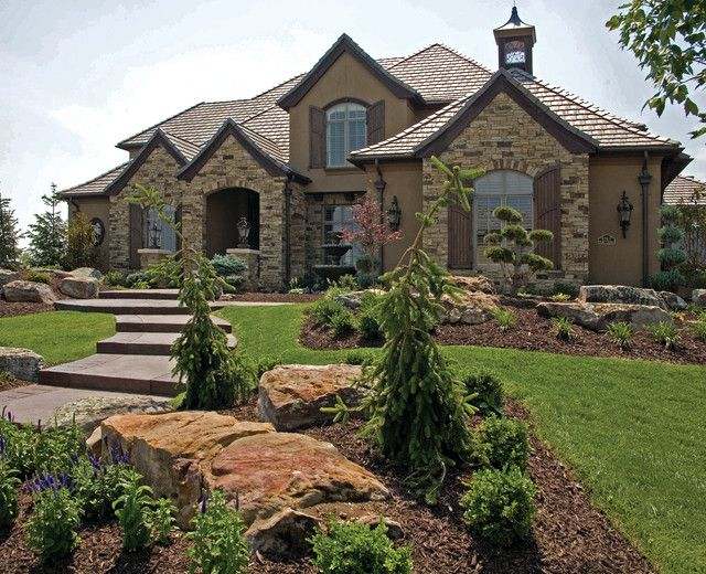 Brick houses with stone accents posts related to stone for Exterior home accents