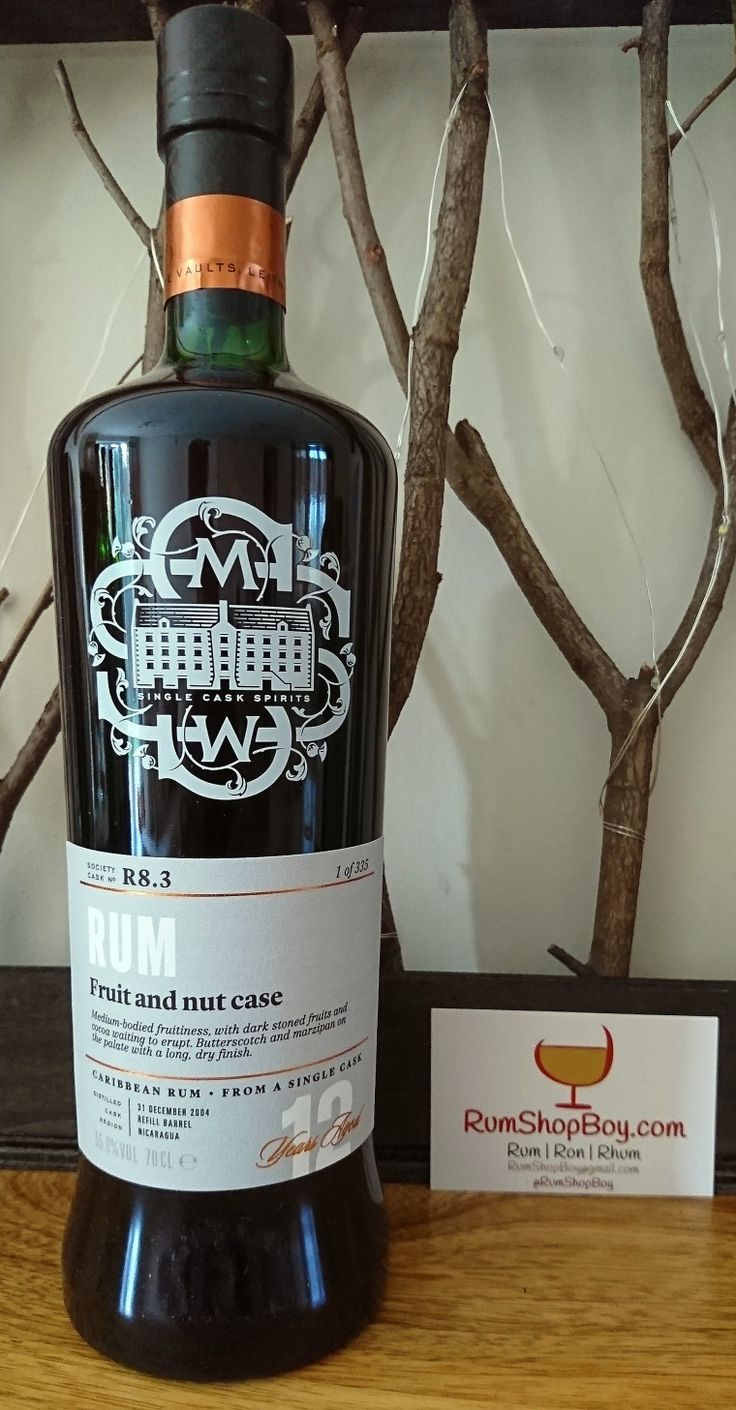 """SMWS R8.3 """"Fruit and Nut Case"""" Alcoholic drinks, Rum"""