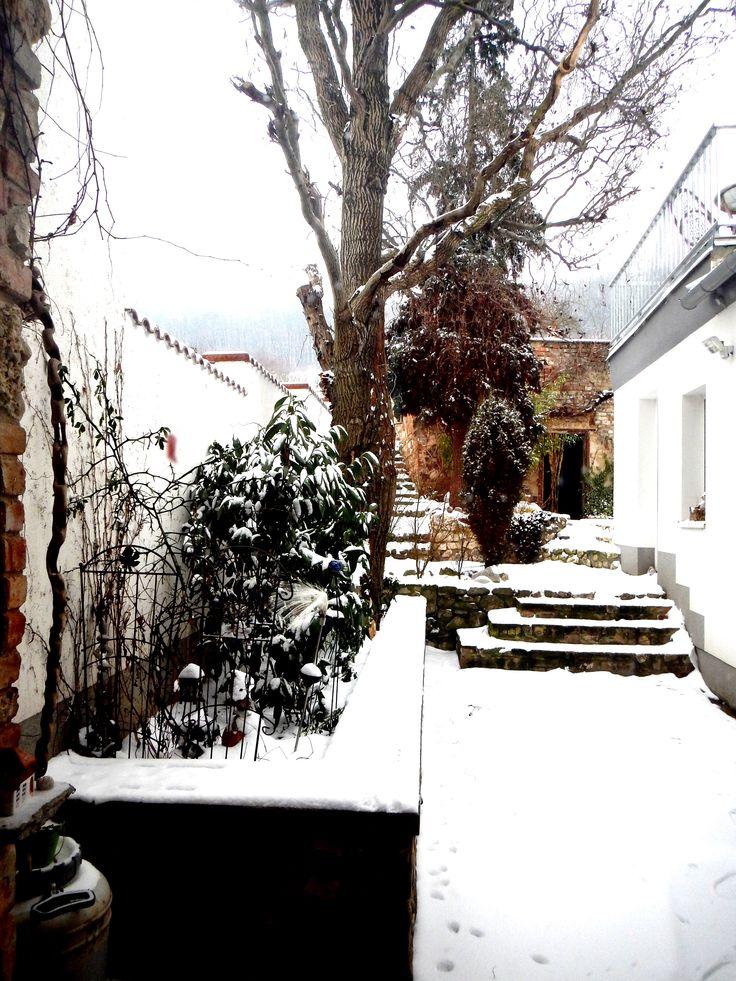 Mikulovské dvorky...první sníh