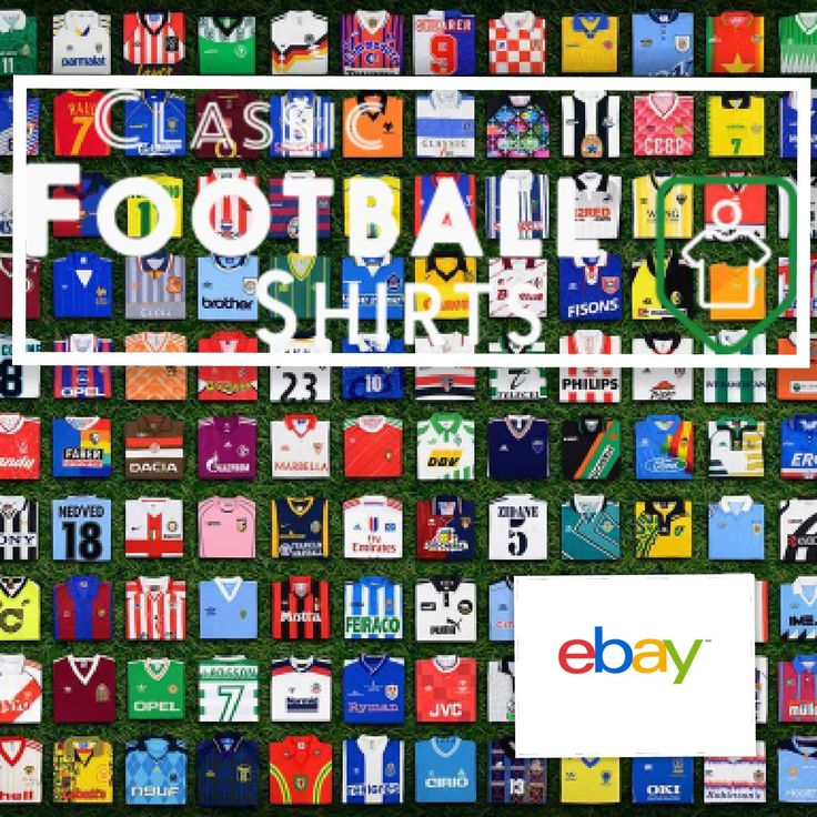Search for your Favorite Memorable Football Shirt at the Classic Football Shirts Clearance eBay Shop ebay.to/2rFbAHU