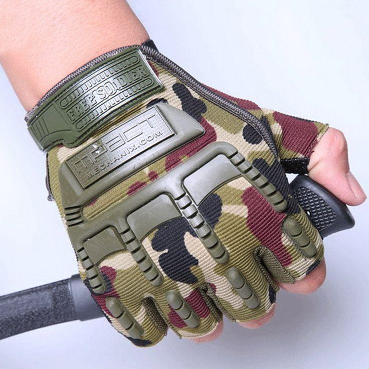 Tahan angin Olahraga Ski Sarung Tangan Bersepeda Sepeda Sarung Tangan Mountaineering Militer Balap Motor Gloves P15