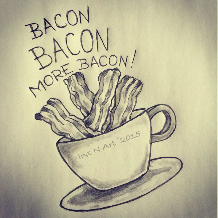 Bacon tattoo sketch by - Ranz