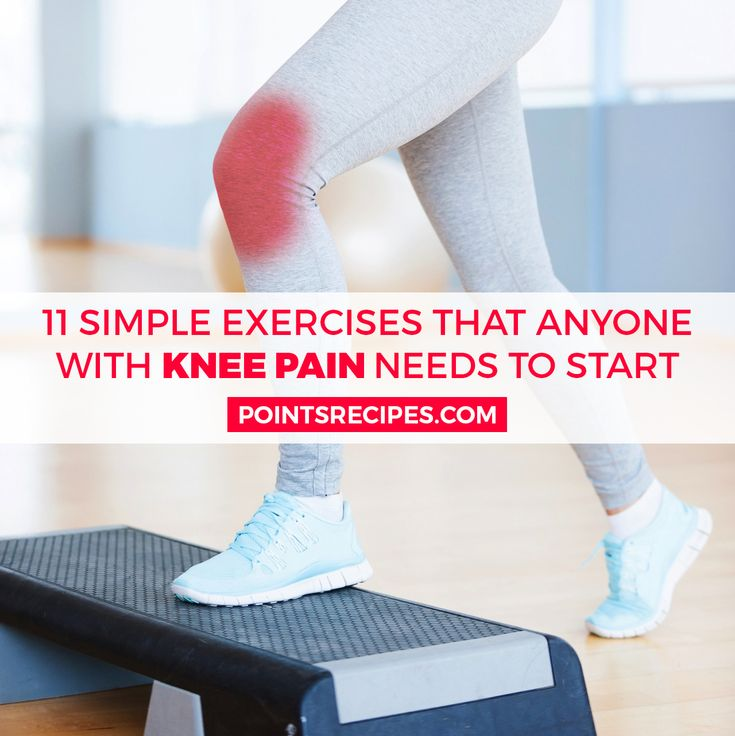 11 simple exercises that anyone with knee pain needs to start doing - Points Recipes
