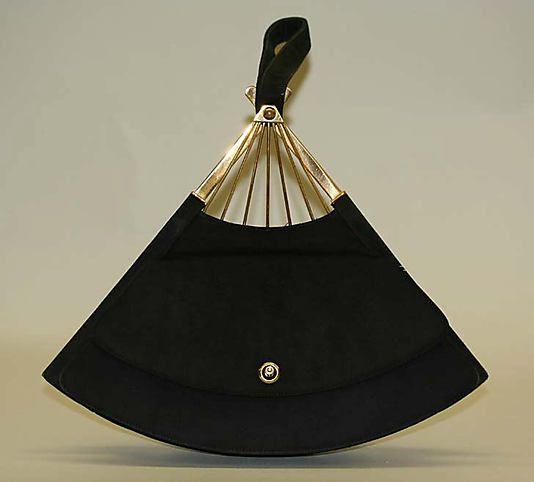 Vintage fan-shaped purse by Mondaine, 1950-55