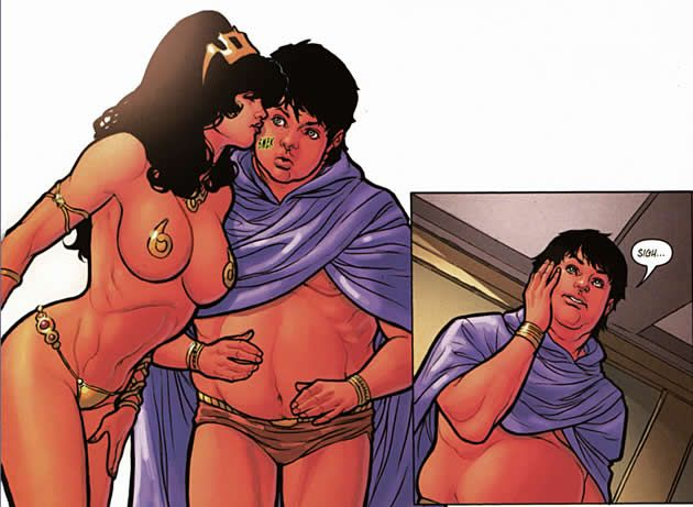 dejah thoris gives valian a kiss