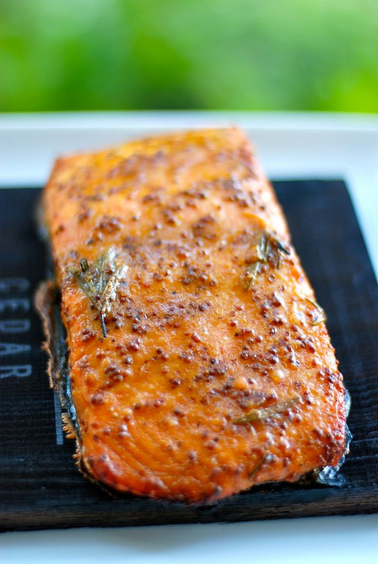 The Enchanted Cook: Cedar Plank Salmon with Mustard Soy Glaze