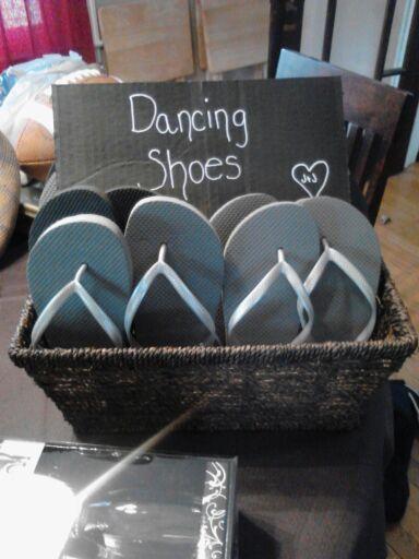Dancing Shoes Basket For Wedding Reception Dance Floor