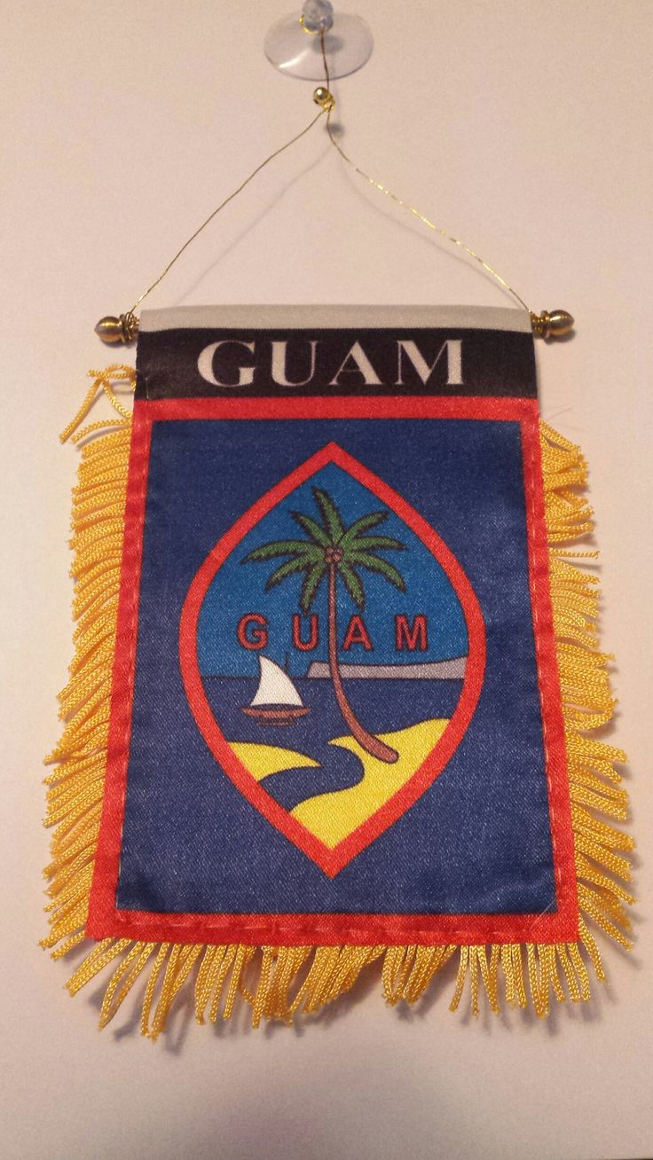 Mini Guam Flag with suction cup. Size 3 inches X 5 inches. Limited time! Order this mini flag and get a FREE Bamboo Guam Sticker! [powr-holiday-countdown id=2383d7d1_1465747838606] CLICK HERE TO SEE A