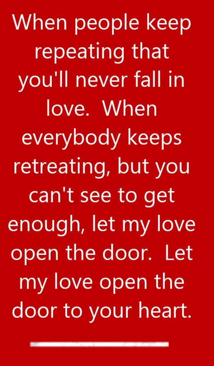 Peter Townsend - Let My Love Open the Door - song lyrics ...