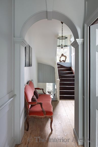 Rescued by the Spitalfields Trust along with the adjoining row of houses, the interior of this Georgian property has been restored to its former glory