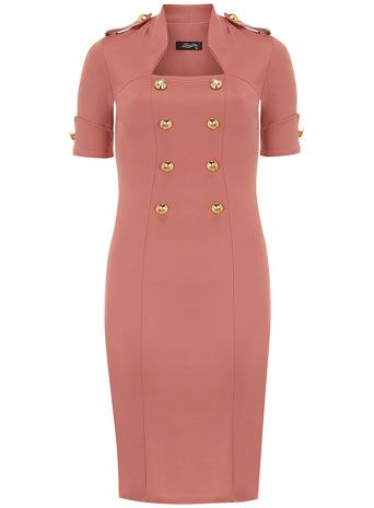 Pink military dress - View All  - Dresses
