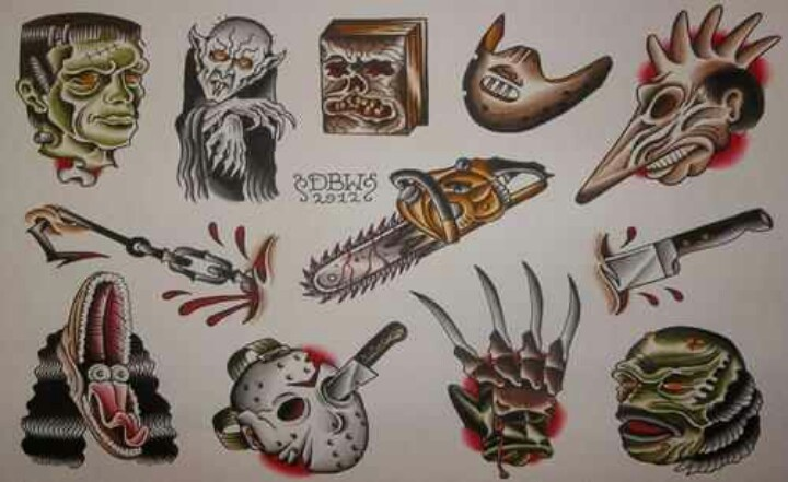 Horror tattoo ideas
