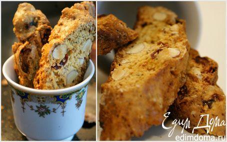 Хрустящее тосканское миндальное печенье Бискотти  | Кулинарные рецепты от «Едим дома!»