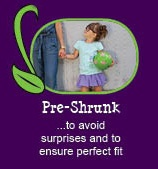 12 reasons why Peekaboo Beans is different from other kids clothing brands.  REASON #9 - PRE-SHRUNK FABRICS