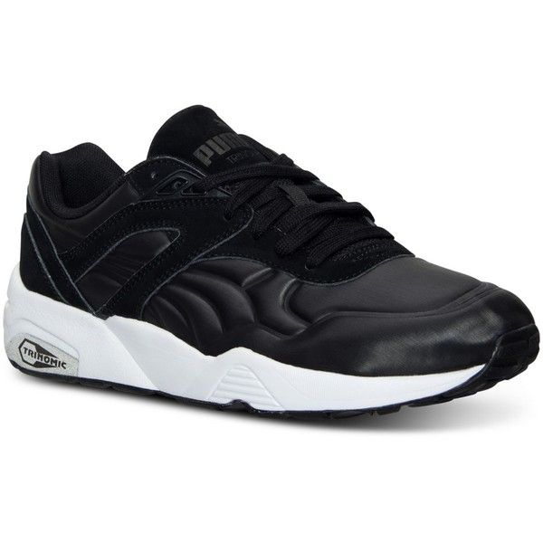 Puma Women's R698 Matte & Shine Casual Sneakers from Finish Line ($80) ❤ liked on Polyvore featuring shoes, sneakers, puma shoes, puma trainers, polish shoes, glossy shoes and shiny shoes