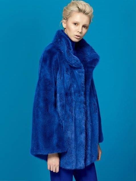 #blue #fur #brand #trend #fashion #adamo #mink #color