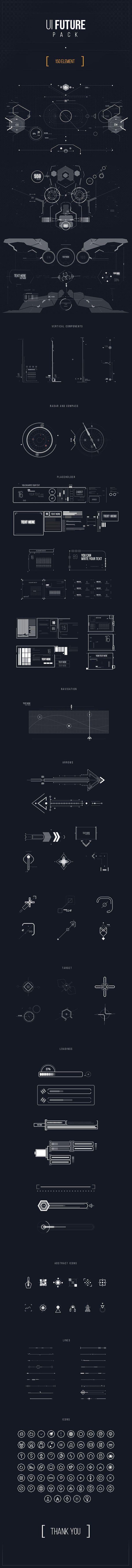 Futuristische UI