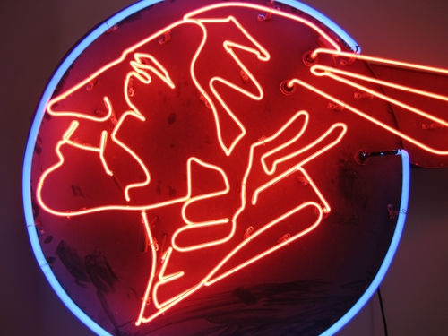 Indian Head Neon Sign Vintage 1950's