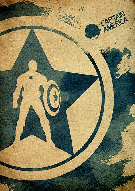 Captain America Minimalist Movie Poster by moonposter || Steve Rogers || 472px × 668px || #fanart