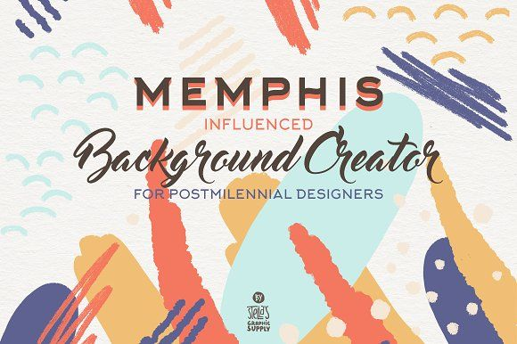 Memphis Background Creator by Stella's Graphic Supply on @creativemarket