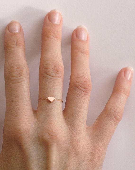 Best 25 Rose gold heart ring ideas on Pinterest