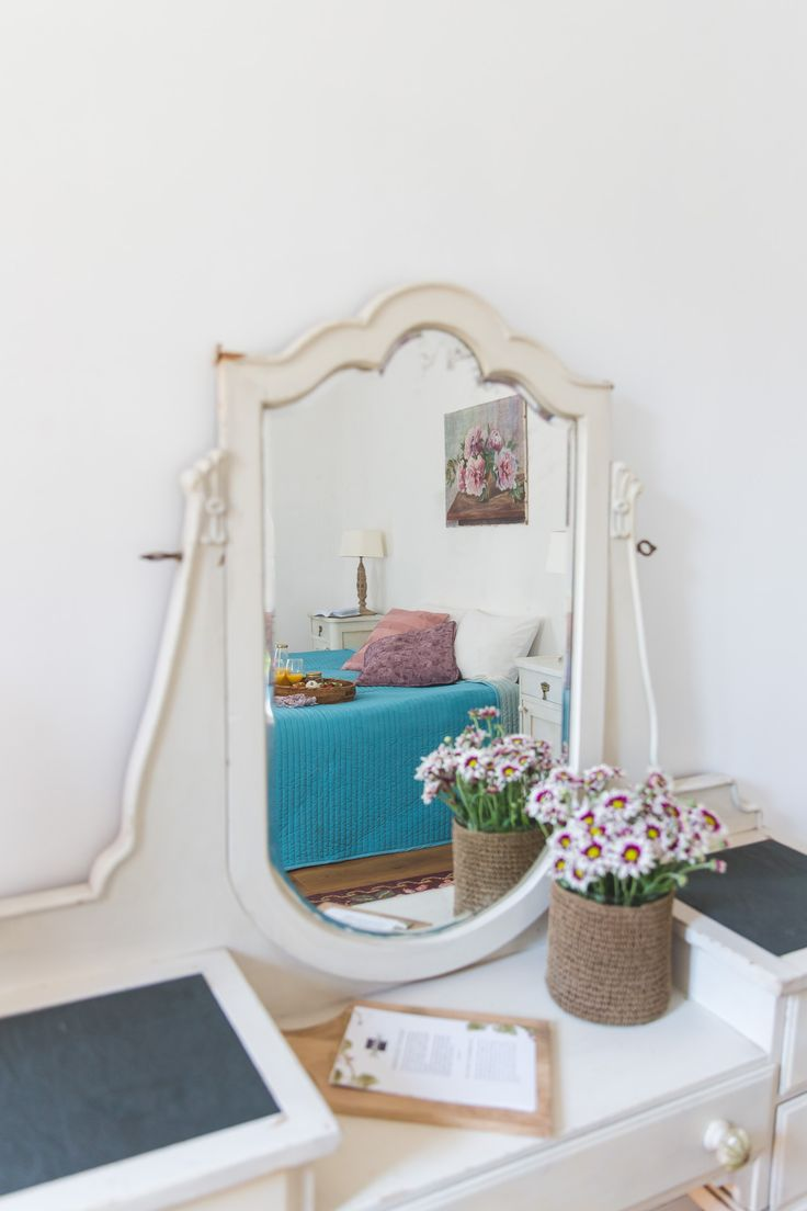 White vintage dressing table with a lovely view