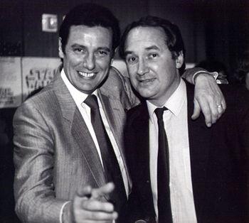 Paul Darrow and Michael Keating, 1985