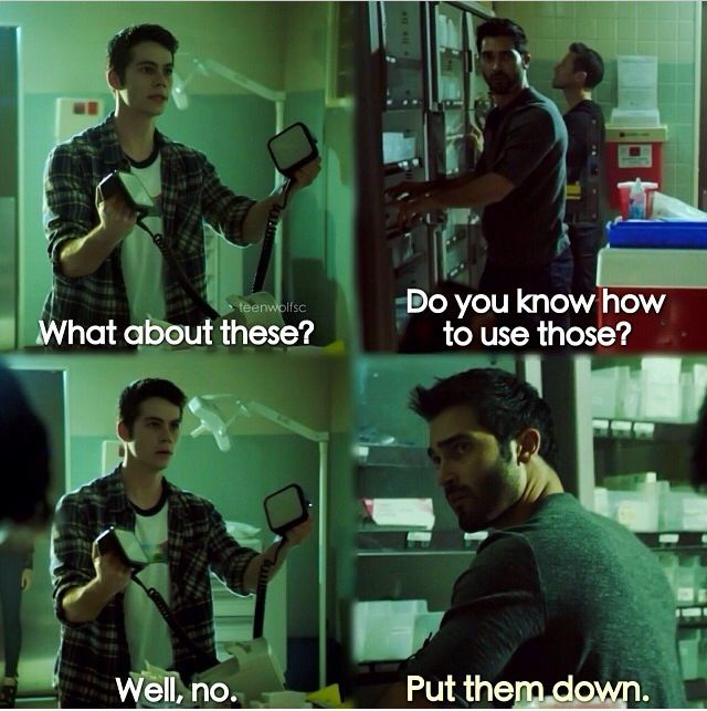 I'm 99% sure Derek was afraid for his life when Stiles picked those up. <---- pinning for that comment!