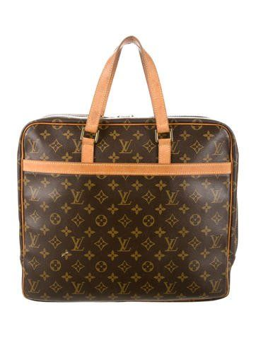 25c304896302 Brown and tan monogram coated canvas Louis Vuitton Porte-Documents Pegase  with brass hardware