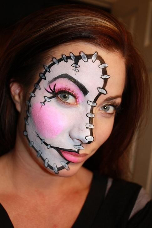 dream a woman dreamed of an image of her face with a huge number of stitches which covered her face interpretation her job was in security for a federal - Female Halloween Face Painting