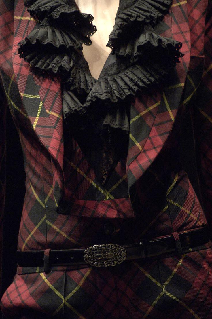 Gorgeous !  Alexander McQueen: Alexander Mcqueen Tartan, Black Ruffle, Fashion Details, Style, Designer Alexander Mcqueen, Mad, Clothes, Tartan Plaid, Fashion Design