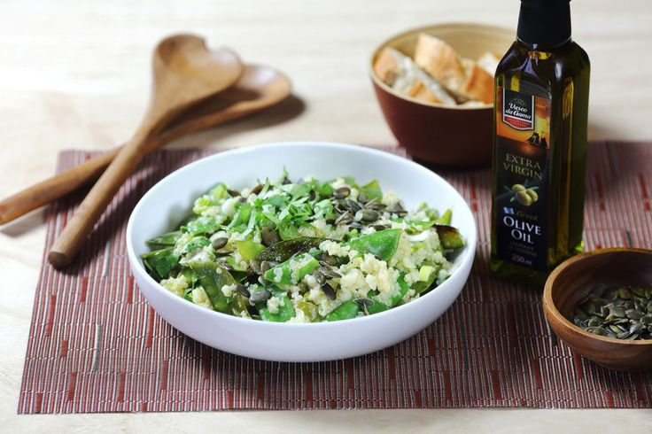 Salát z quinoy a cukrového hrášku