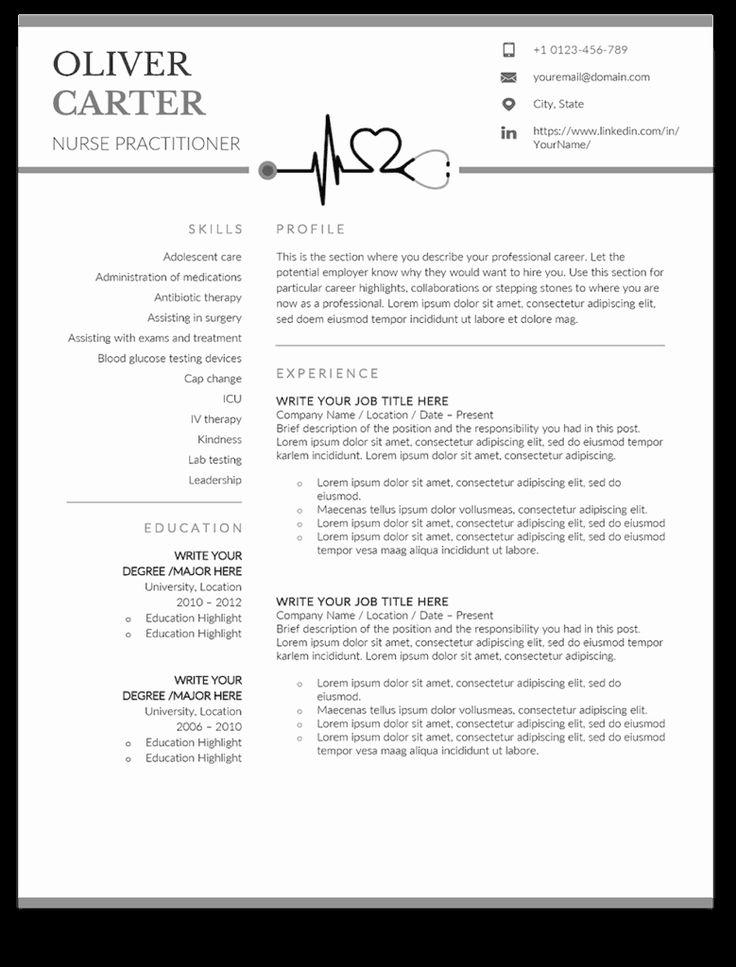25 graduate nurse resume template in 2020 nursing resume