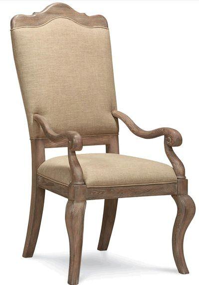 Обеденное полукресло коттеджного стиля в отделке Cobblestone. Высота сиденья составляет 50 см., высота подлокотника 63 см. Ширина сиденья 50 см., глубина 47 см.             Метки: Кухонные стулья.              Материал: Ткань, Дерево.              Бренд: Schnadig.              Стили: Классика и неоклассика.              Цвета: Бежевый.