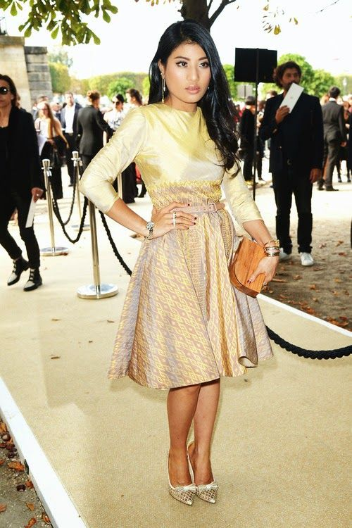 Princess Sirivannavari Nariratana of Thailand attends the Elie Saab fashion show at the Jardin des Tuileries as part of the Paris Fashion Week Womenswear Spring/Summer 2015 on 29.09.2014 in Paris, France
