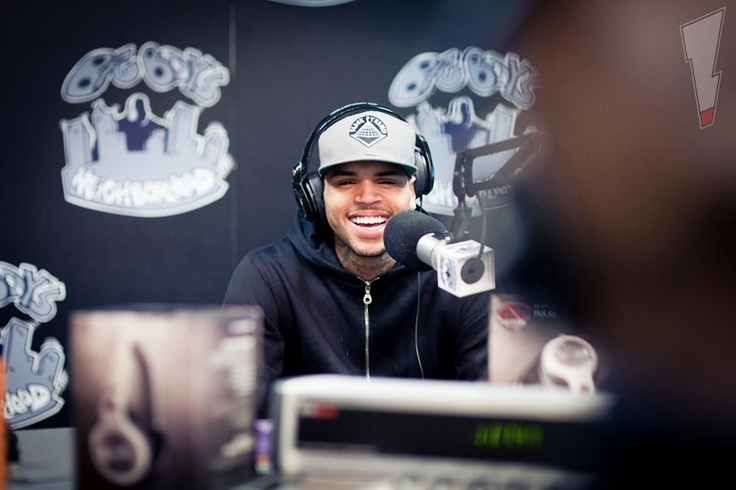 Chris Brown is in the Hood with Big Boy! — at Power 106 FM.