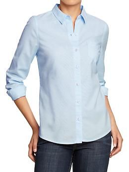 Affordable Oxford button-up shirts from Old Navy for only $24.50