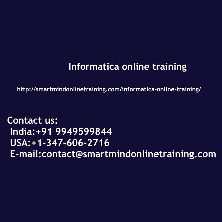 "Informatica online training Informatica Power Center could possibly be an ETL Tool It's a business information integration device for removing the information re-working the information and desegregation data from diverse company program or DB, in any fairly structure, and providing that info during the enterprise protection systems Informatica online training. <a href="" http://smartmindonlinetraining.com/informatica-online-training/""> Informatica Online training </a>"