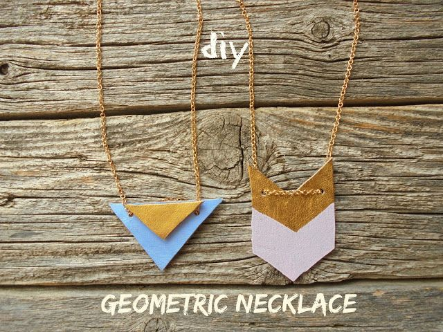 milleunrossetto: DIY: GEOMETRIC NECKLACE