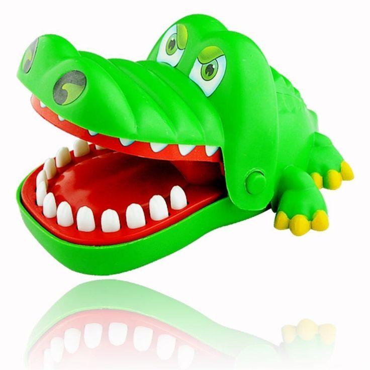 New Novelty Crocodile Dentist Mouth Bite Finger Game Kids Alligator Roulette Trò Chơi Lớn Vui Vẻ Món Quà!