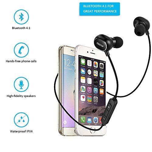 ALTMAN Bluetooth Headpones Wireless In-Ear Headset Sports Running Sweatproof Earbuds with CVC 6.0 Noise Cancellation, 8 Hours Playtime, Built-in Mic, Compatible iPhone 7 and Samsung S7
