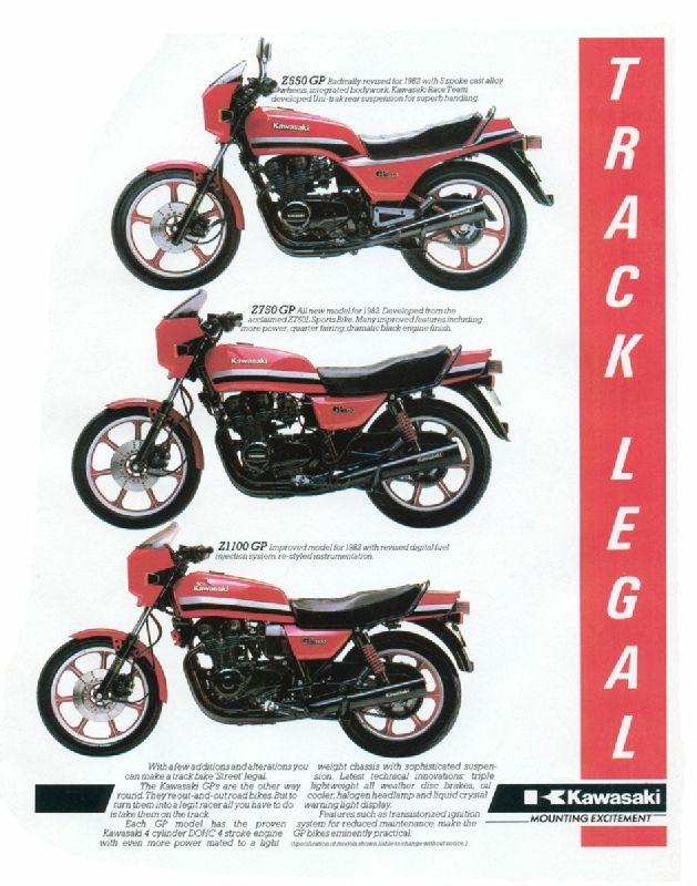 Kawaski Z550, Z750, Z1100