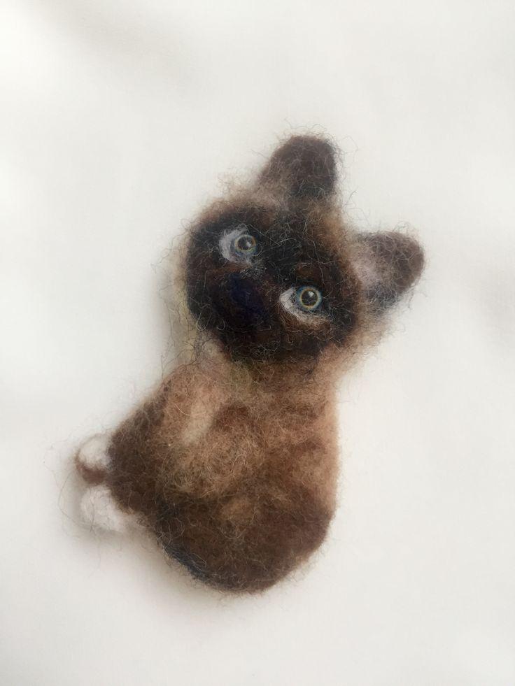 Кот, котик, брошь, ручная работа, шерсть, фелтинг, art, brooch, felting, handmade, cat, kitten, kitty
