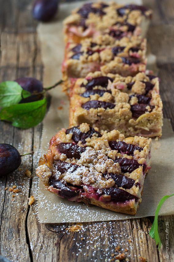 Pflaumenkuchen mit Zimtstreusel | plum cake | Pflaumenkuchen | Pflaumen | plum | Herbst-Rezepte | Kuchen | © monsieurmuffin