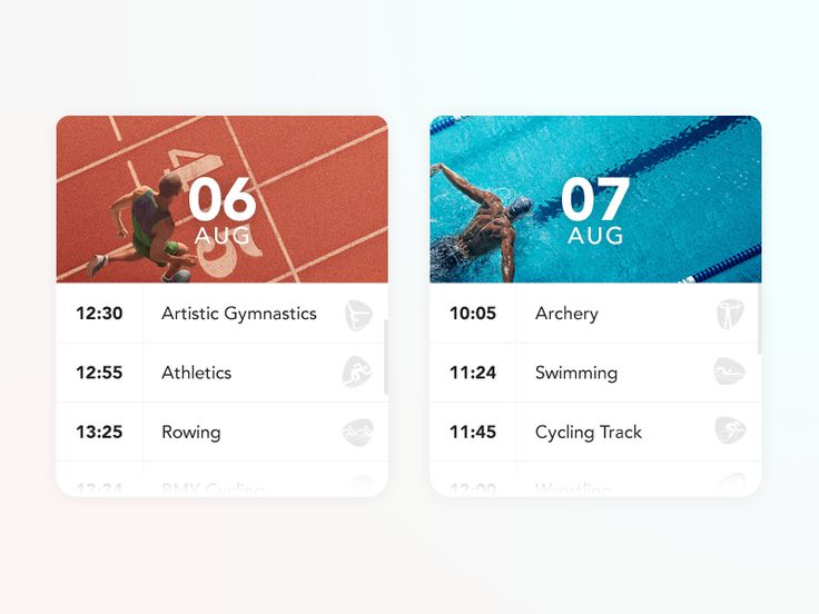 Olympic Calendar Cards by Gian Marco Maurizi