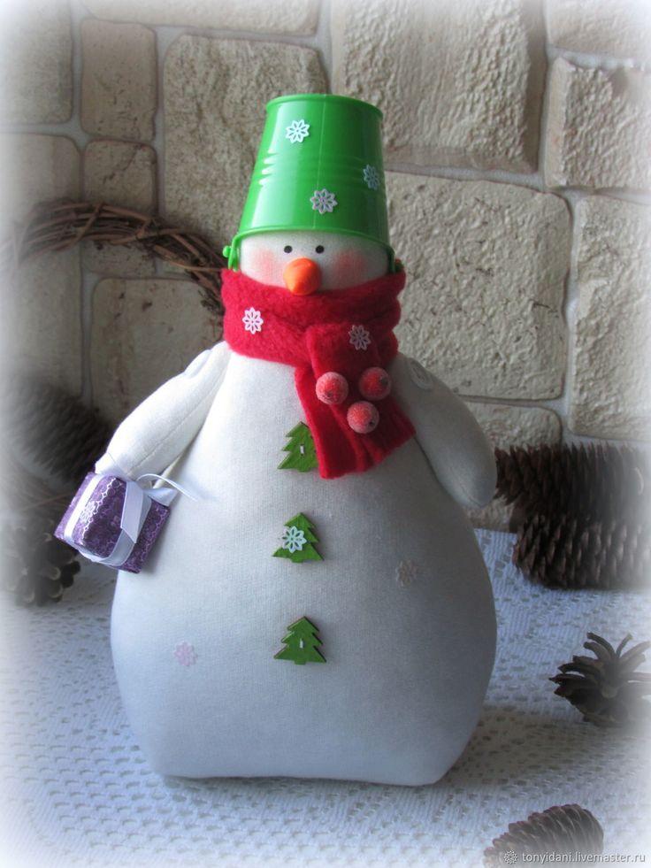 Купить Снеговик в стиле Тильда - 5 в интернет магазине на Ярмарке Мастеров