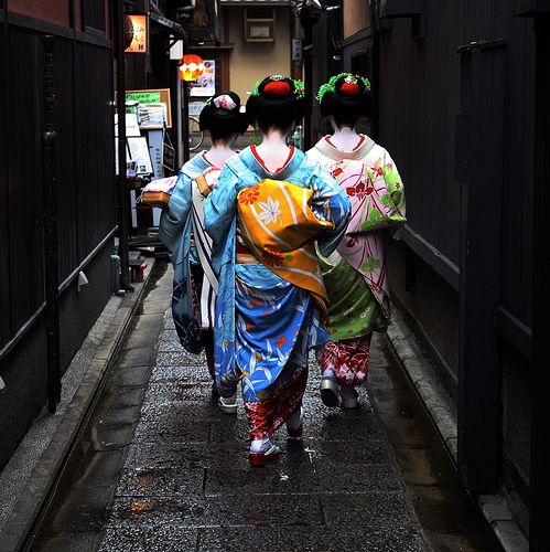 Trio: Maiko, Kyoto, Japan. Photo by Michael Chandler.