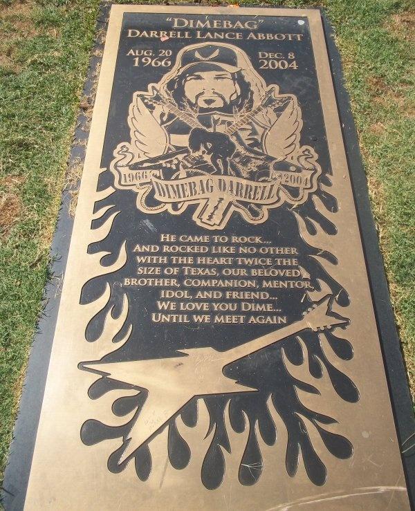 My trip to Texas June 2011 Dimebag Darrel's Grave...RIP Dime!