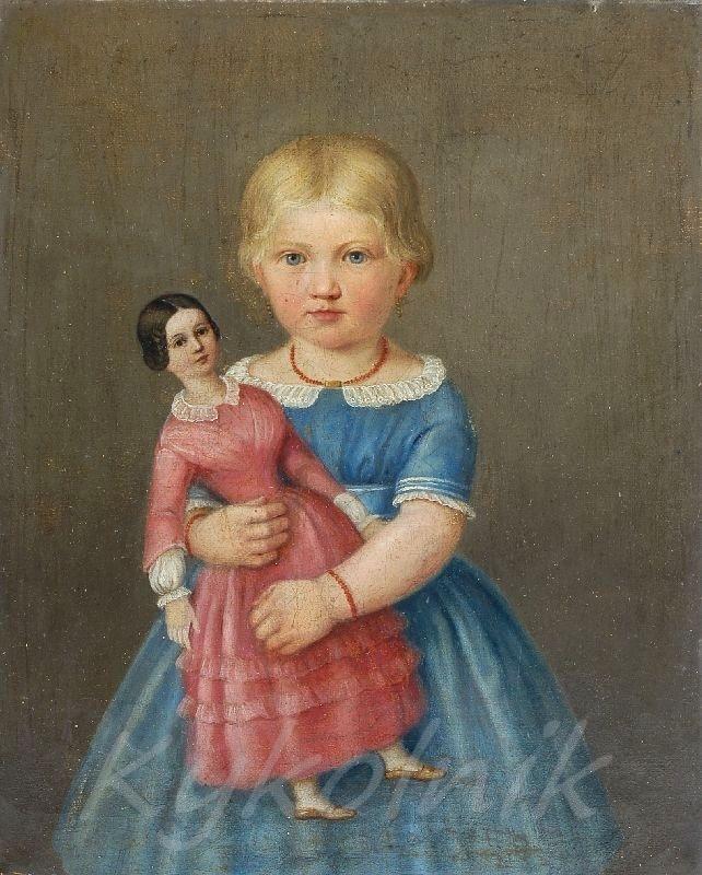 Dolls in art gallery