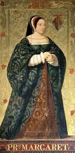 Margaret Tudor--elder sister of Henry VIII. She would marry into the Scottish Royals and be grandmother to Mary Stuart.  The present British Royal Family descends from her.